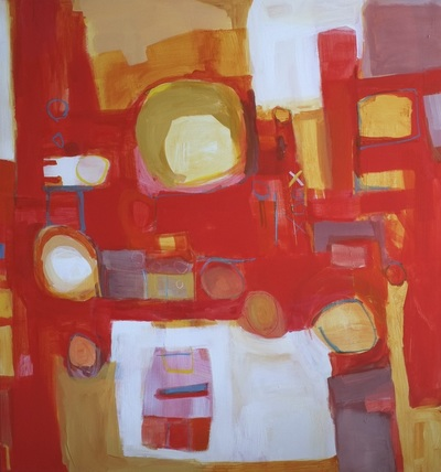 Painting: Making room, 44.5x42 Acrylic, $2100